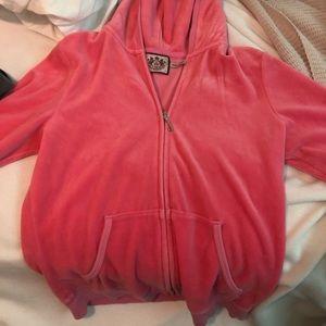 Pink juicy couture zip up